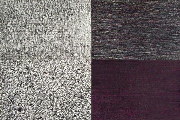 Assemblage_de_4_herbes_Over_HO_n-3_45x65cm_feutre_et_crayon_de_couleur_sur_papier_2010