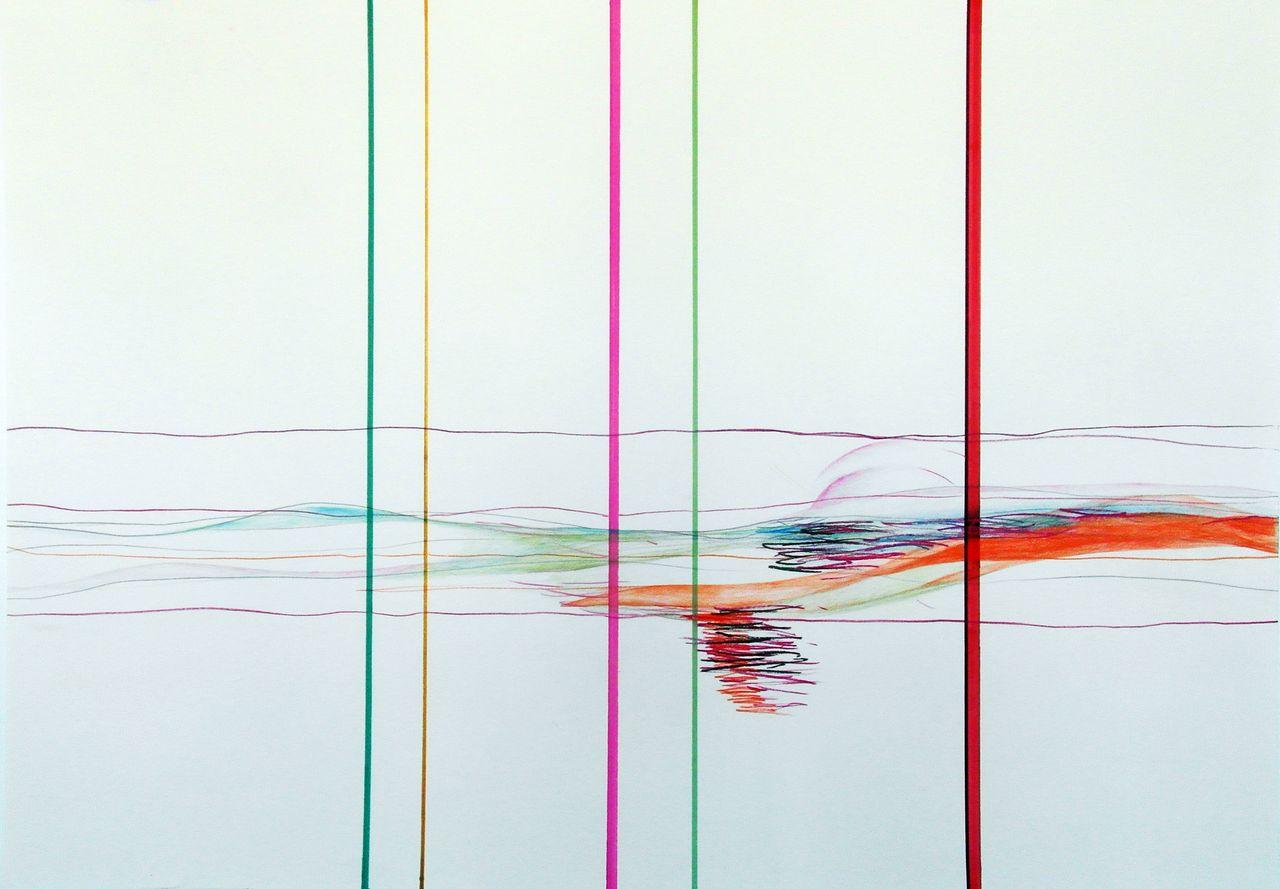 ellipse-persistente-en-verticales-horizontaliseies-4_75x113cm_crayon-sur-papier_2014