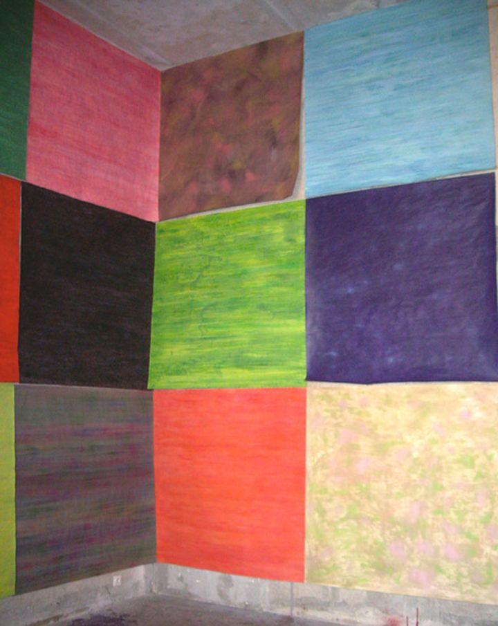 La_Sirene_ensemble_modulable_150x150cm_chaque_huile_sur_papier_2007